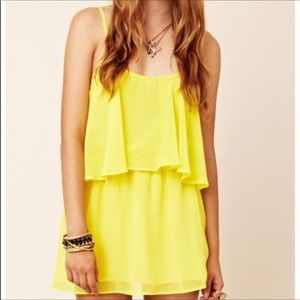 Lovers + Friends Sunkissed Mini Dress Yellow SM